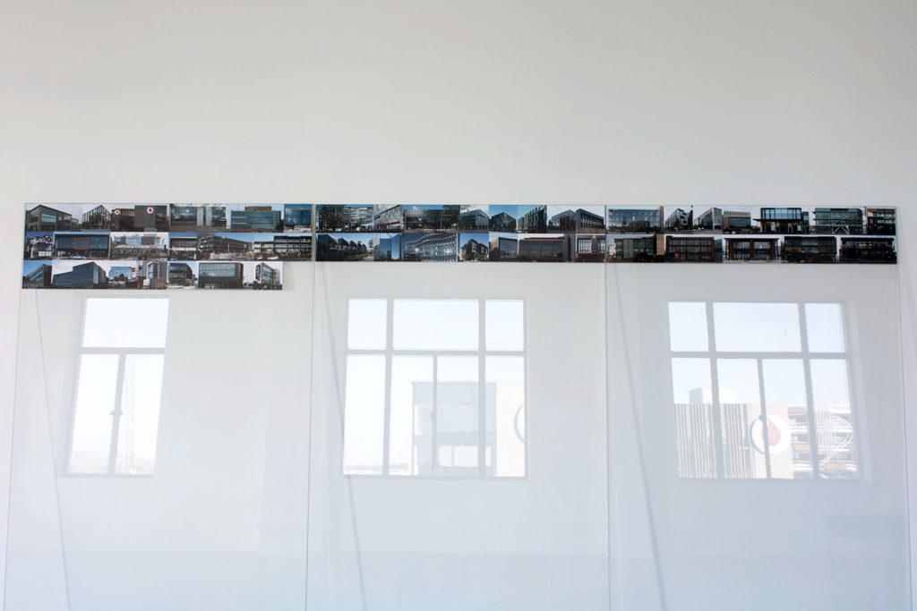 Amy Howden-Chapman, Brick Fall, Glass Wall, installation view, The Physics Room. Image: Daegan Wells
