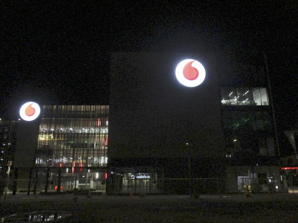 The InnoV8 building at night