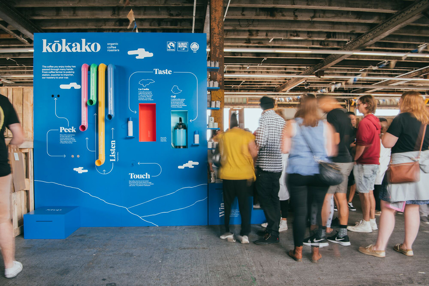 Exhibition Stand Assembly : Fresh from the field — kōkako exhibition stand auckland