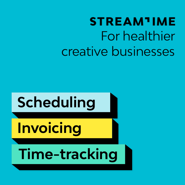 Advert for Streamtime software